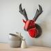 Deer Head Wallhanging, Celebration Red