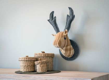 Stag Wall Hanging, Latte