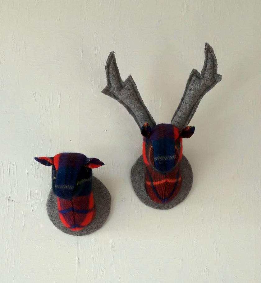 Stag and Doe Head  Wall Hangings, Pair 'o Deer  Mr & Mrs MacPherson