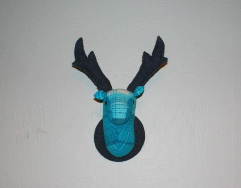 Stag Head Wall Hanging, Robyn's Blue