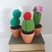 Cacti, set of 3 crochet houseplants