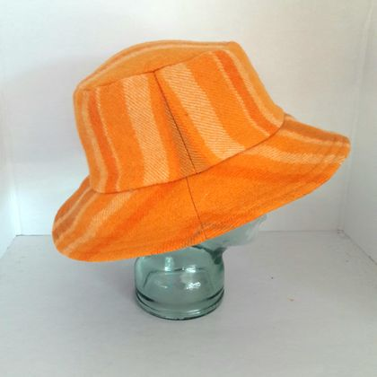 Blanket Bucket Hat. Orange  Sz L