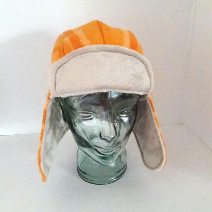 Aviator Hat. Orange  Sz M