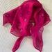 Hot pink silk, hand printed scarf