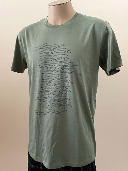 Whitebait Tee 'Sage green' - Mens & Ladies