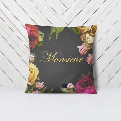 Monsieur -  Velvet Euro Pillow Cover