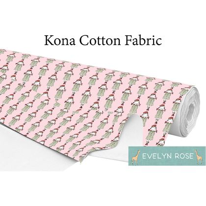"""Beautiful Rosa"" Kona Cotton Fabric"