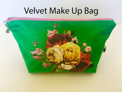 Ms Velvet Green Make Up Bag