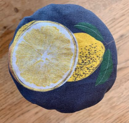 """Lemon Curd""   Reusable Food Cover"