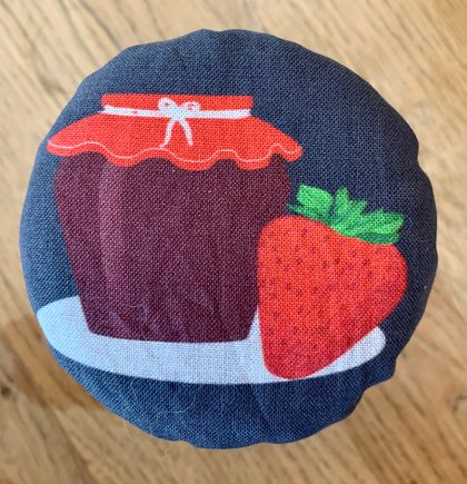 """Strawberry Jam""   Reusable Food Cover"