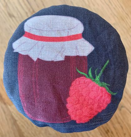 """Raspberry Jam""   Reusable Food Cover"
