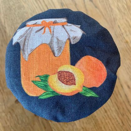 """Apricot Jam""   Reusable Food Cover"