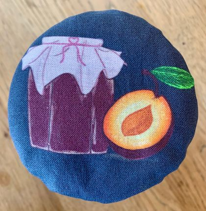 """Plum Jam""   Reusable Food Cover"