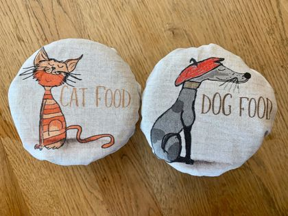 """Cat Food""   Reusable Food Cover"