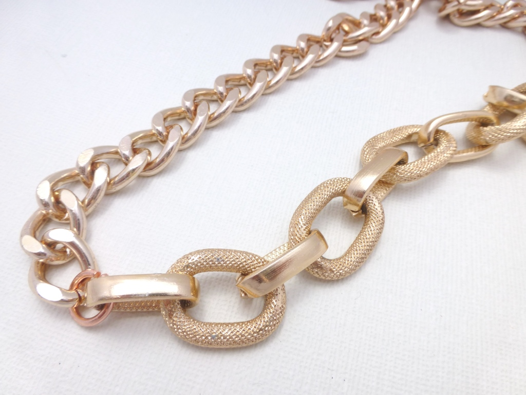 rose gold chunky chain necklace felt