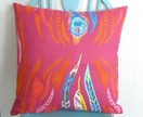Berry & Hot Pink Feather Cushion Cover