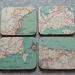 Vintage Map Coasters - Customised
