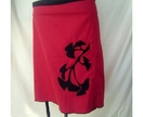Red Ginko Wrap Skirt