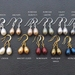 Simple Pearl earrings in gold: your choice of teardrop-shaped Swarovski pearls with gold plated hooks