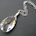 Starlight: one-of-a-kind necklace with sun-catcher crystal pendant on sterling silver chain