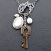 Lady Abigail: locket cluster necklace with vintage and antique treasures – one of a kind