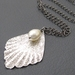 Anastasia necklace: silver-plated lacy pendant with Swarovski pearl – limited edition – last one!