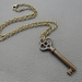 Rusty Old Key: quaint, vintage-inspired key necklace – one of a kind