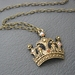 Crown Of Gold: golden crown pendant with glittering topaz rhinestones – one of a kind