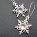 The Snow Queen's Earrings: glittering rhinestone snowflakes on silver ear-wires –unique and one of a kind