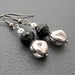 Drops Of Silver And Jet: elegant, Victorian-inspired earrings in black and silver