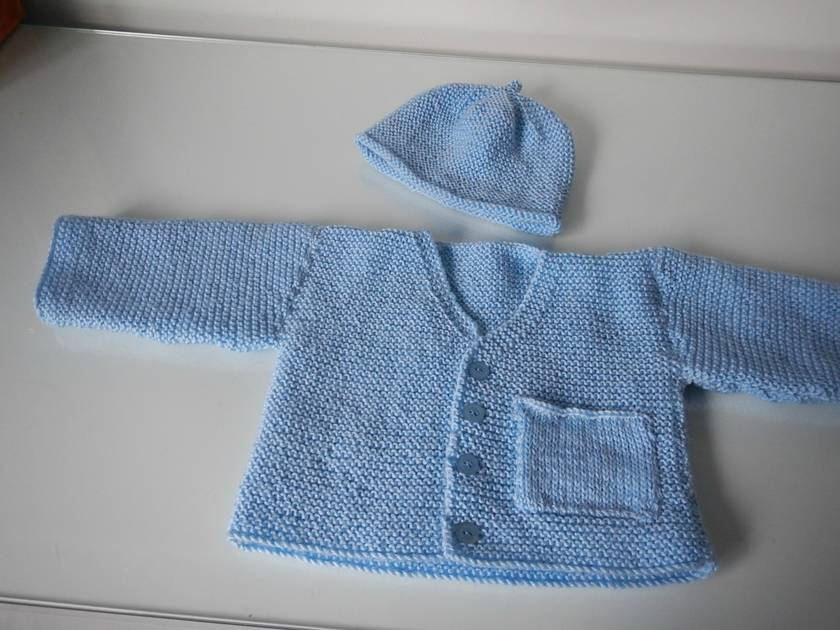 JACKET & MATCHING BEANIE 0 - 3 mths
