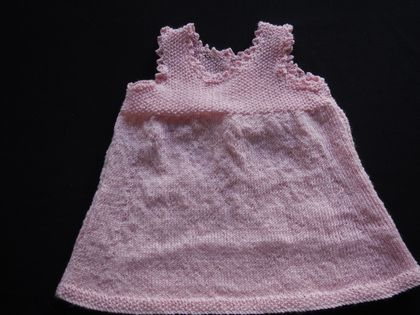 DRESS 0  -3 MONTHS  - 100% FINE MERINO WOOL