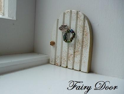 Handmade white fairy door with fairy dust 12 each felt for White fairy door