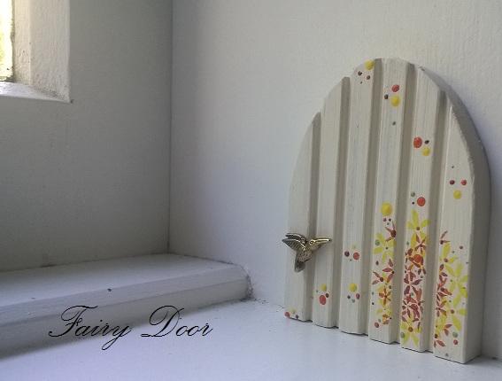 Hand painted fairy door autumn felt for Painted fairy doors