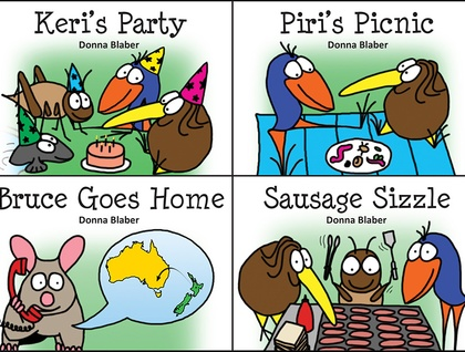Set of 4 Kiwi Critters Books for $18 + FREE shipping worldwide!