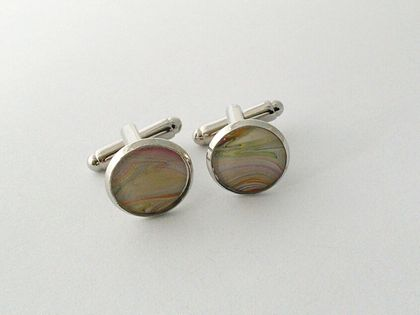 Real Abstract Art Cufflinks