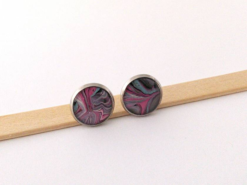 Real Abstract Art Earrings