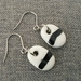 Ceramic Earrings Black and White