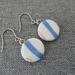 Ceramic Earrings Blue Stripes