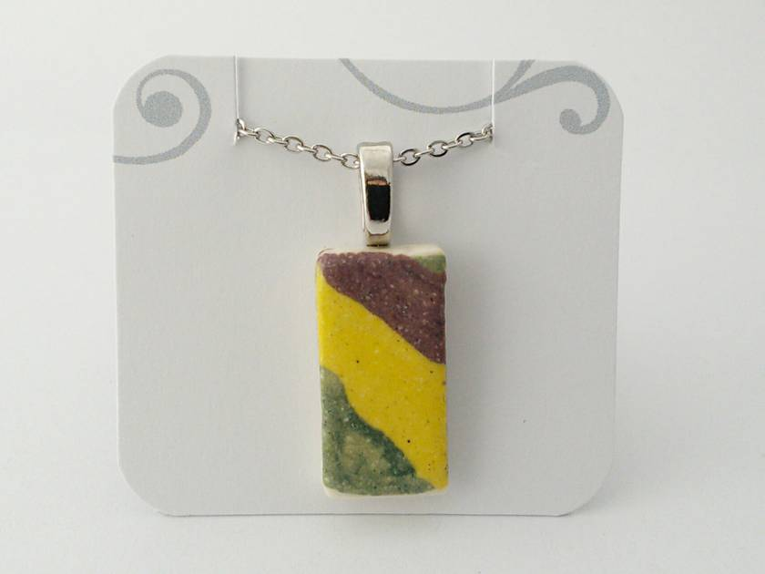 Ceramic Rectangular Pendant