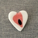 Ceramic Heart Lapel Pin