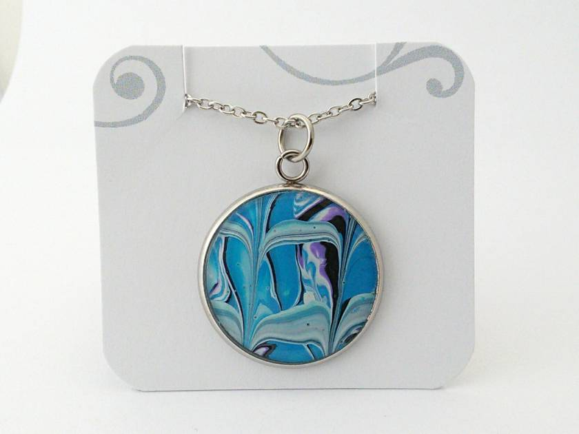 Real Abstract Art Pendant