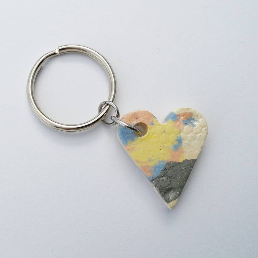 Ceramic Heart Keyring