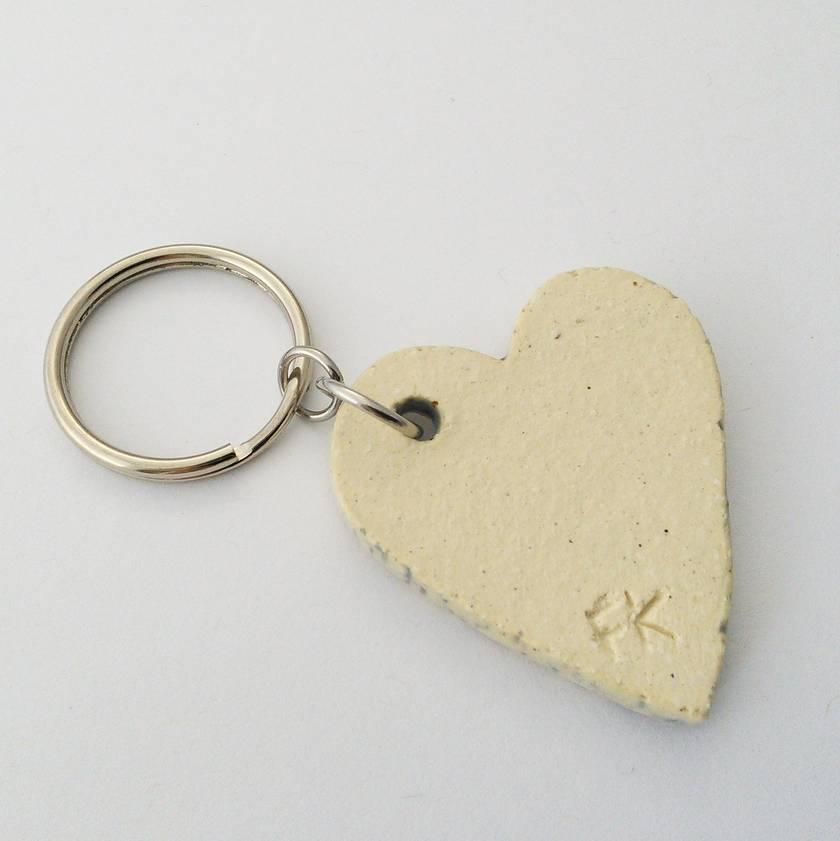 Big Ceramic Heart Keyring