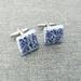 Ceramic Cufflinks Blue and White