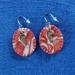 Monoprint Angel Wing Earrings