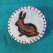 Rabbit Art Brooch