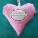 Fabric Poem Heart - A Friend Like You