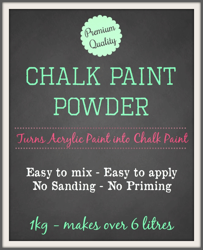 how to use chalk paint powder