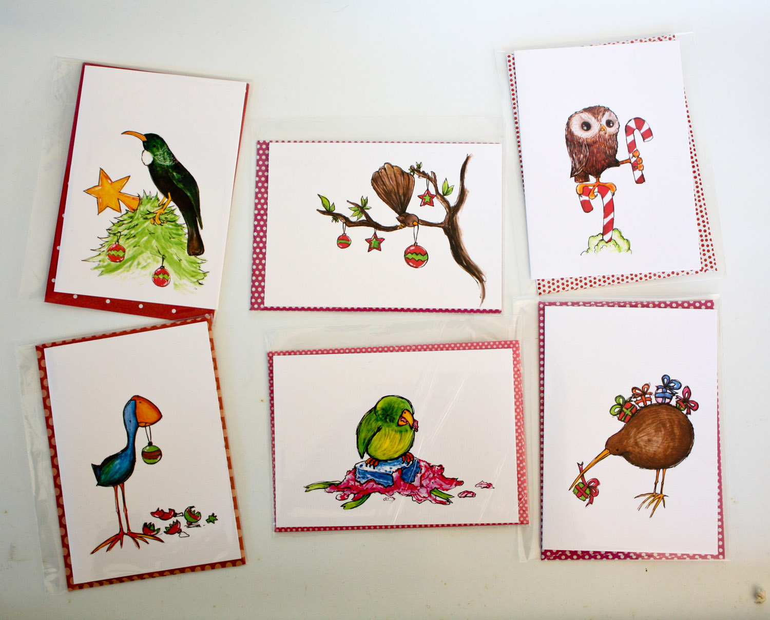 Naughty Bird Christmas Card - Kakapo | Felt